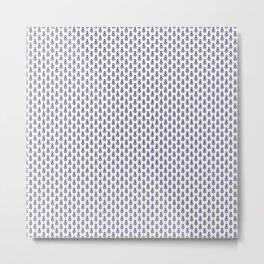 Indian Flowers Blockprint 1 (Dark Blue) Metal Print