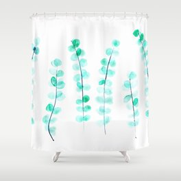 Nature vibes #5 || watercolor leaves art Shower Curtain