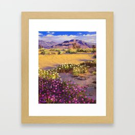Pink flowers Framed Art Print