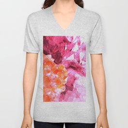 Crystal Abstract Unisex V-Neck
