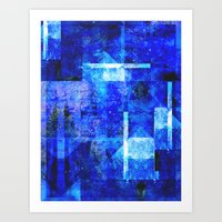 discount Art Prints featuring Sapphire Nebulæ by Aaron Carberry