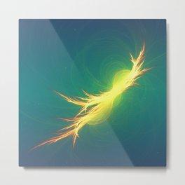 Fractal Phoenix Rising Metal Print