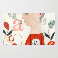 letters Area & Throw Rugs featuring LETTERS by Sara Stefanini