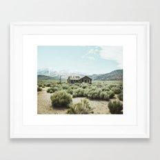 Old house in desert Framed Art Print