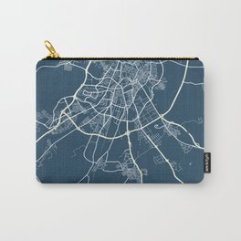Valladolid Blueprint Street Map, Valladolid Colour Map Prints Carry-All Pouch