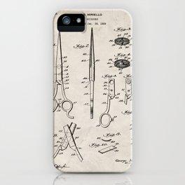 Hair Scissors Patent - Salon Art - Antique iPhone Case