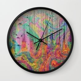 Hipster Forest Wall Clock