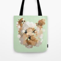 terrier Tote Bags featuring Terrier  by Glen Gould