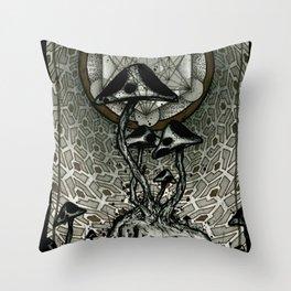 Shroom Consumed Throw Pillow