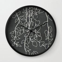 Minimalist Vines I Wall Clock