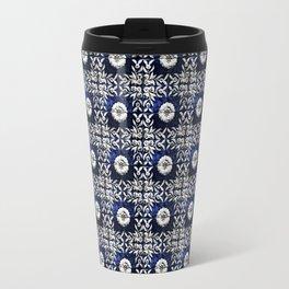 blue tile pattern VIII - Azulejos, Portuguese tiles Travel Mug