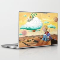 little prince Laptop & iPad Skins featuring Little Prince with sunflower by Fabio Marascio