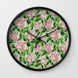 Blooms in pink Wall Clock