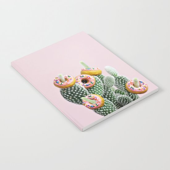 Donut Cactus In Bloom Notebook