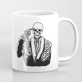 Suicide skeleton illustration Coffee Mug