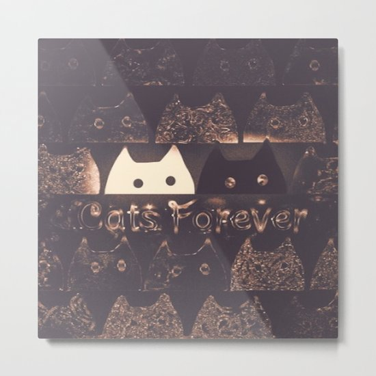 cats-225 Metal Print