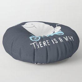 There is a whale Floor Pillow