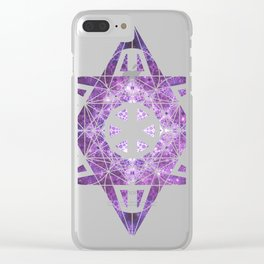 Metatron's Cube Time Wheel ~ Purple Olympus Clear iPhone Case