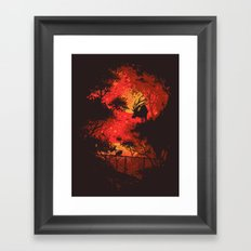 Yellow Moon Framed Art Print