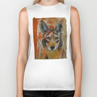 coyote Biker Tanks featuring Coyote by Ali Kirby