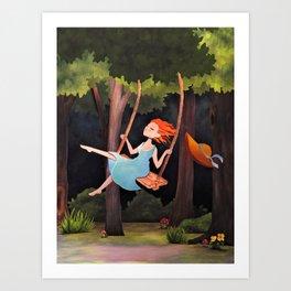 Forest Girl Art Print