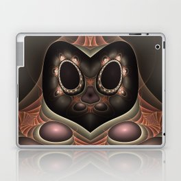 Owl from Space, Abstract Fractal Art Laptop & iPad Skin