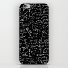 Physics Equations on Chalkboard iPhone Skin