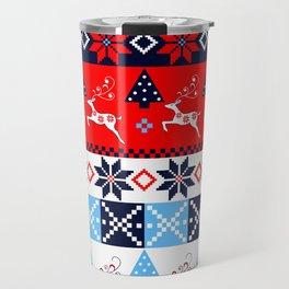 Scandinavian holidays pattern design Travel Mug