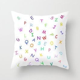 Dancing block letters party time Throw Pillow