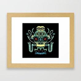 The smoking Chaman Framed Art Print