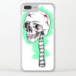 Funky Skull Clear iPhone Case