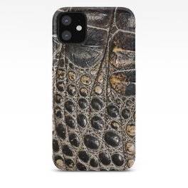 American alligator Leather Print iPhone Case