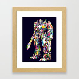 Transformer in pop art Framed Art Print