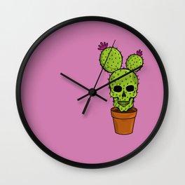 SKULL CACTUS Wall Clock