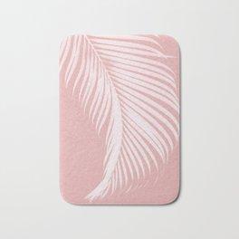 Palm Leaves on Pink I Bath Mat
