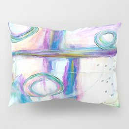 Just the Three of Us, Abstract Art Painting Pillow Sham