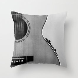 acoustic electric guitar music aesthetic close up elegant fine art photography  Throw Pillow