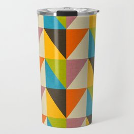 Retro Color Block Chevron Color Fun Travel Mug