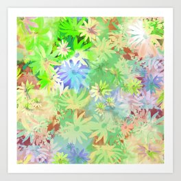 A bed of flowers. Art Print