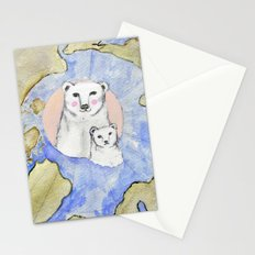 Polar Bear Portrait Stationery Cards