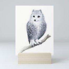 Snowy Fowl Mini Art Print