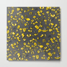 Golden Jasp Metal Print