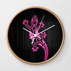 Pink Salamandra Wall Clock