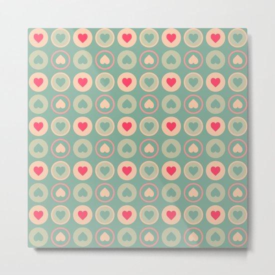 Cookie Love Retro Pattern Metal Print