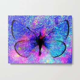 Celestial Butterfly : Bright & Colorful Metal Print