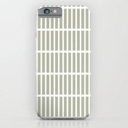Bamboo (Pastel Sage) iPhone Case