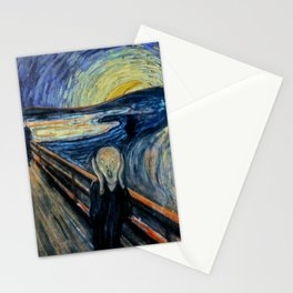 Scream on a Starry Night Stationery Cards