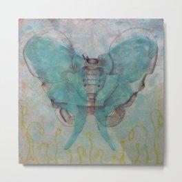Luna Moth Pelvis Metal Print
