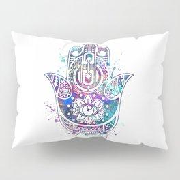 Hamsa Hand Watercolor Poster Wedding Gift Pillow Sham