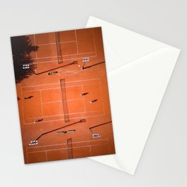 Tennis court orange Stationery Cards